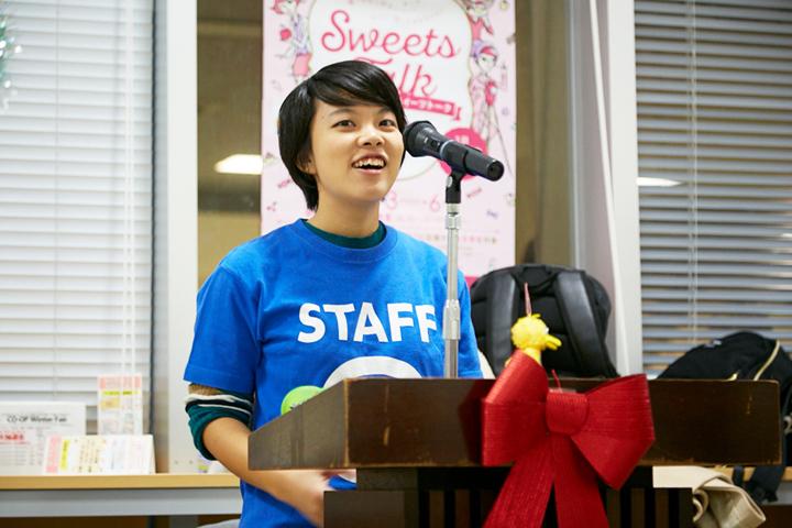 このイベントを主体的に企画してくれた名工大女子学生団体彩綾~SAYAの竹内美月さん